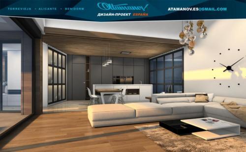 Дизайн одноэтажной виллы